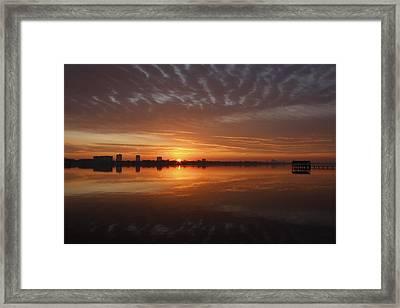 Sunrise Framed Print by Kimberly Oegerle