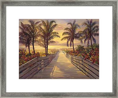 Sunrise  Framed Print by Laurie Hein
