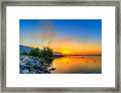 Sunrise Framed Print by Lechmoore Simms