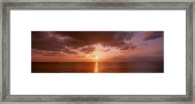 Sunrise Miami Fl Usa Framed Print by Panoramic Images