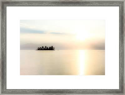 Sunrise Mist Framed Print by Aaron Aldrich