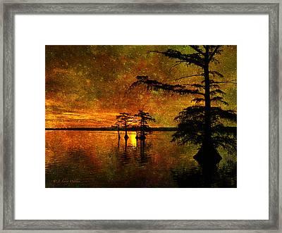 Sunrise Mystique Framed Print by J Larry Walker
