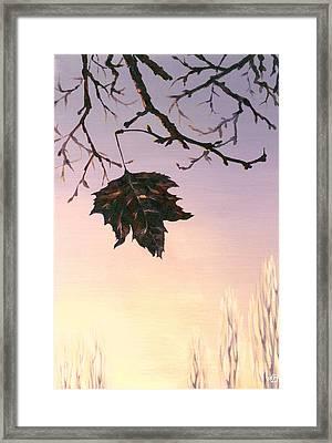 Sunrise Framed Print by Natasha Denger