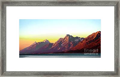 Sunrise On Jackson Lake Framed Print by Robert Bales