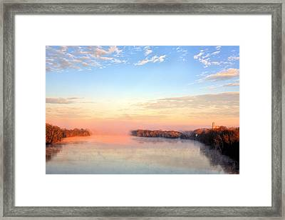 Sunrise On The Alabama River Framed Print by JC Findley