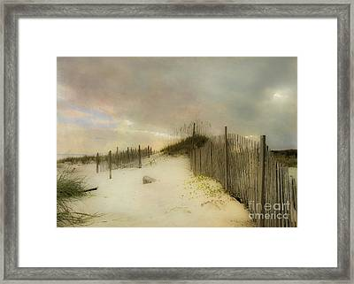 Sunrise On The Beach Framed Print by Betty LaRue