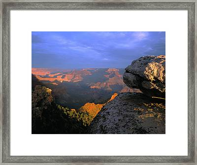 Sunrise On The Grand Canyon From Yaki Framed Print by Panoramic Images