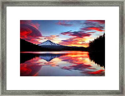 Sunrise On The Lake Framed Print by Darren  White