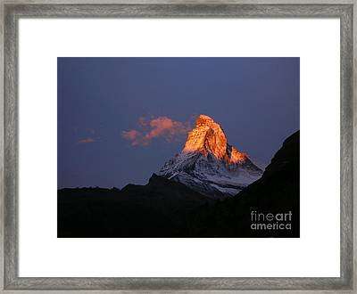 Sunrise On The Matterhorn Framed Print by Micheline Heroux