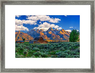 Sunrise On The Tetons Limited Edition Framed Print by Greg Norrell