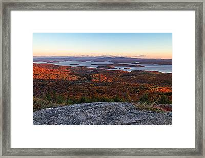 Sunrise Over Alton Bay Framed Print by Jeff Sinon