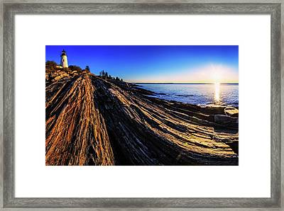 Sunrise Over An Atlantic Coastline Framed Print by Babak Tafreshi