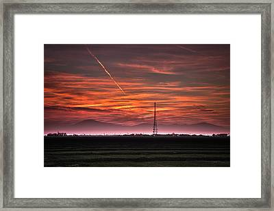 Sunrise Over Bear Mountain Framed Print by Connie Cooper-Edwards