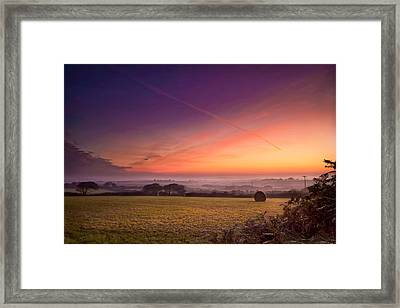 Sunrise Over Cornwall Framed Print by Christine Smart