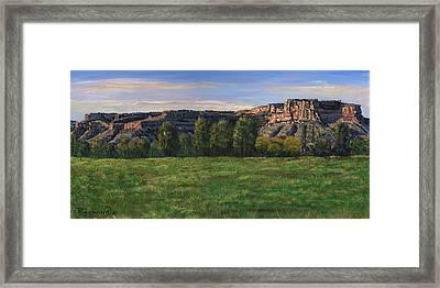 Sunrise Over Farmington Bluffs Framed Print by Timithy L Gordon
