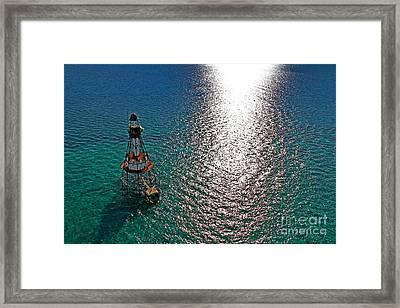 Sunrise Over Fowey Light Framed Print by Rick Bravo