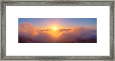 Sunrise Over Haleakala Volcano Summit Framed Print by Panoramic Images