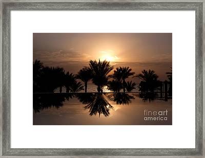 Sunrise Over Infinity Pool Framed Print by Jane Rix