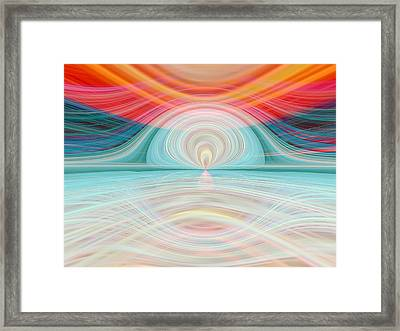 Sunrise Over Jupiter Framed Print by Tom Druin