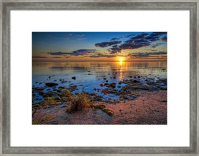 Sunrise Over Lake Michigan Framed Print by Scott Norris