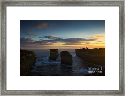 Sunrise Over Loch Ard Gorge Framed Print by Josephine Caruana