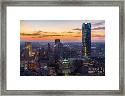 Oks007_okc_morning-56 Framed Print by Cooper Ross