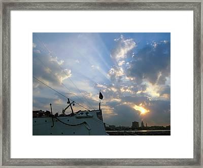 Sunrise Over Philadelphia  Framed Print by Shoal Hollingsworth