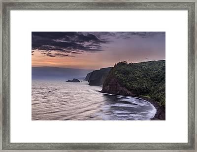 Sunrise Over Pololu Valley Framed Print by Eduard Moldoveanu