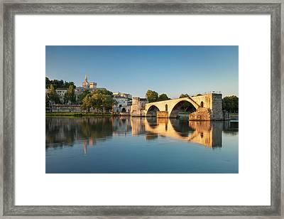 Sunrise Over River Rhone, Pont Saint Framed Print by Brian Jannsen