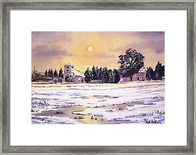 Sunrise Over St Botolph's Church Framed Print by Bill Holkham