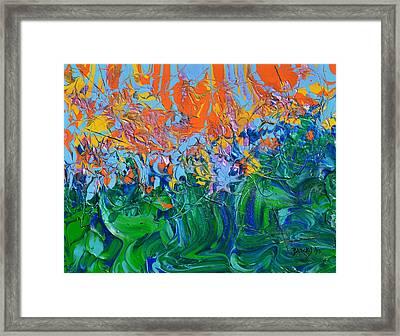 Sunrise Over Stormy Seas Framed Print by Donna Blackhall