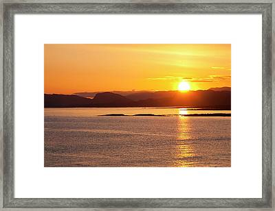 Sunrise Over The Applecross Mountains Framed Print by Ashley Cooper