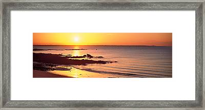 Sunrise Over The Beach, Beg Meil Framed Print by Panoramic Images