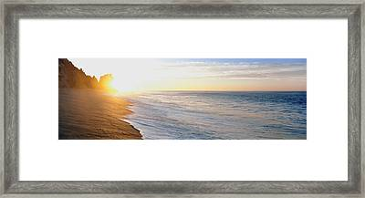Sunrise Over The Beach, Lands End, Baja Framed Print by Panoramic Images