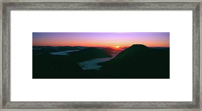 Sunrise Over The Buachaille Etive Mor Framed Print by Panoramic Images