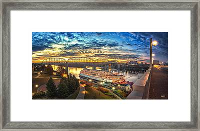 Sunrise Over The Delta Queen Framed Print by Steven Llorca