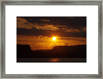 Sunrise Over The Gorge Framed Print by Ruth Taylor