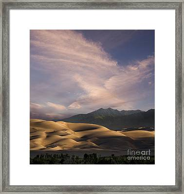 Sunrise Over The Great Sand Dunes Framed Print by Keith Kapple