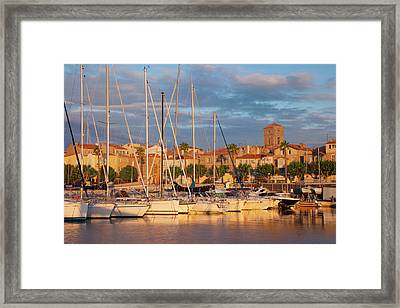 Sunrise Over The Harbor Of La Ciotat Framed Print by Brian Jannsen