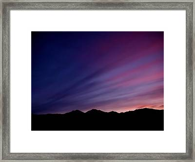 Sunrise Over The Mountains Framed Print by Rona Black
