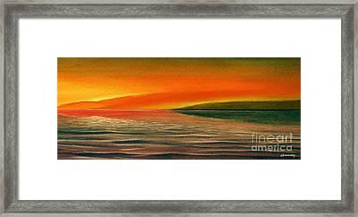 Sunrise Over The Sea Framed Print by Christian Simonian
