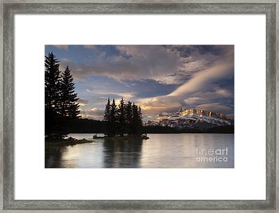 Sunrise Over Two Jack Framed Print by Keith Kapple