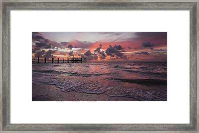 Sunrise Panoramic Framed Print by Adam Romanowicz