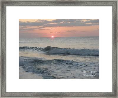 Sunrise Framed Print by Polly Anna