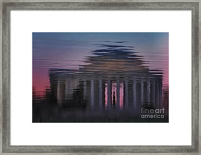 Sunrise Reflections Of The Thomas Jefferson Memorial Framed Print by Susan Candelario