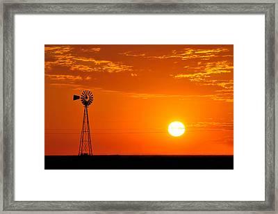 Sunrise Framed Print by Paul Van Baardwijk