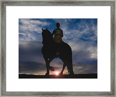 Sunrise Ride Framed Print by Laurie Comfort