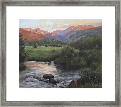 Sunrise Rocky Mountain National Park Framed Print by Anna Rose Bain