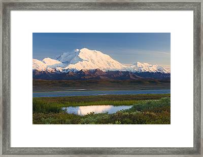 Sunrise Scenic Of Mt. Mckinley Framed Print by Michael DeYoung