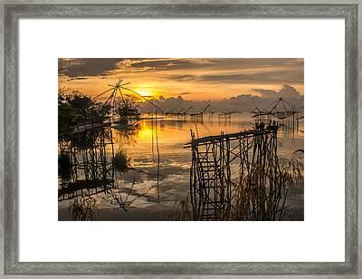 Sunrise  Framed Print by Sihasak Prachum